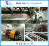 Maquinaria de extrudado reforzada plástica del manguito del alambre de acero del espiral de los materiales del PVC