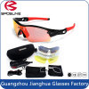Lunettes de soleil échangeables améliorées des sports UV400 polarisées par lentilles en verre de Mens de modèle 5 avec le cas de transport
