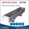 다채로운 알루미늄 IP65 옥외 프로젝트 가교 DC24V DMX 벽 세척 램프 54W 72W LED RGB 바 Wallwasher