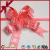 光沢の結婚式車のための赤いポンポンの引きの弓
