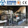 Pp. legen die Wiederverwertung der Pelletisierer-Plastikaufbereitenmaschine mit Teppich aus