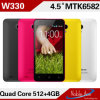 4.5inch 854*480 Mtk6582 Quad Core 3G Version Mobile Phone (W330)