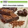 Les comprimés de 2kg de chocolat du dépôt de la ligne de chocolat Chocolatier de la machine