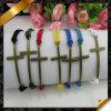 Sideway Cross Beads Bracelet, Newest Leather Bracelet per Women (FB057)