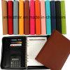 Support coloré de conférence de portefeuille de cuir d'abrégé