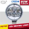 4X4 Mining Industry 7inch Roundのクリー語60W LED Spotlight Work Lights (PD760)