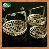 BambusWicker Tray Basket mit Handles