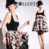 Ropa de alta calidad Diseñador de estampados florales vestidos moda mujer fabricante