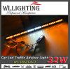 Bernsteinfarbiger weißer Doppelverkehrs-gerichtete Warnleuchte der farben-LED