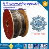 corde galvanisée enduite par PVC du fil d'acier 8X26ws-Iwrc