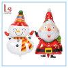 クリスマスの装飾のスノーマンおよびサンタクロースホイルの気球