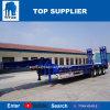 タイタン販売のための低いベッドのトレーラー45トンの油圧2つの車軸低下のデッキのLowloaderのトラックの掘削機の