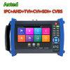 Alle in einer CCTV-Prüfvorrichtung für Tvi Cvi Ahd CVBS und IN DEN IP-Kameras mit  7 Touch Screen