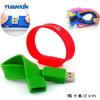 Memória Flash do USB da qualidade do Wristband do PVC para o homem