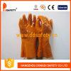 Вкладыш 100% хлопка перчаток индустрии PVC Ddsafety 2017 померанцовый