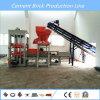 Tijolo concreto automático simples do cimento que dá forma à maquinaria