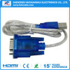 Novo USB 2.0 macho para serial RS232 dB9 9 Pin Female Adapter Cable