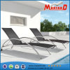 Patio moderno Stainless Steel Sun Lounger con Mesh Fabric