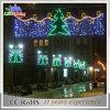 Decorações ao ar livre do Natal do diodo emissor de luz das skylines para a luz de rua