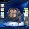 6 em 1 RGBWA impermeável 4HP 18W Wireless Luz PAR LED alimentado por bateria