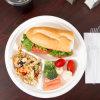 10 de  servicio de mesa biodegradable de la cena de la caña de azúcar de la placa 3 compartimientos de la placa redonda de la caña de azúcar