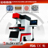 3D tipo focal dinámico máquina de la marca del laser para los materiales de los pantalones vaqueros