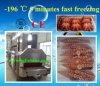 Kleine IQF Gefriermaschine mit flüssigem Stickstoff, 5 Minute-Gefrierzeit