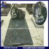 Pietra tombale della Francia del muratore nell'azzurro del Labrador del granito con il brillamento di sabbia