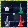 Bell Shape 4 Arms Tree Rings Glass Water Pipe com Inner-Weld Swirl Perc Atacado 17