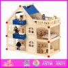 2014의 형식 새로운 아기 장난감, 호화스러운 큰 아이들 장난감 나무로 되는 인형의 집, 다채로운 아이 장난감 질 실행 나무로 되는 인형의 집 W06A050