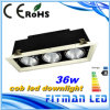 Grade Downlight do diodo emissor de luz da alta qualidade, diodo emissor de luz Downlight da ESPIGA 36W da fábrica do diodo emissor de luz de Fitman