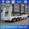 Tri-Axle 60 Toneladas Excvator pesados Tansport Cama Baixa reboque pescoço de cisne