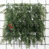 인공적인 회양목 플라스틱 잎 담 인공적인 녹색 잔디 담