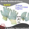 7g кевлара вязаные рукавицы Fingerless с 2 стороны ПВХ пунктирной/ EN388: 234X