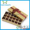Coutume avec la boîte-cadeau de papier de couleur d'or de bande pour la sucrerie