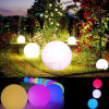 Bille flottante piscine jardin Gazon Chemin Lumière
