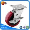 5 Zoll-Hochleistungsschwenker-Polyurethan-Fußrollen-Rad PU-Rad-Fußrolle
