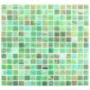Azulejo de mosaico americano del vidrio manchado del verde del cuadrado del estilo para el cuarto de baño