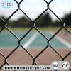 Черный винил покрыл загородку ячеистой сети звена цепи 8FT для поля бейсбола