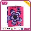 El patrón de flor púrpura rosa revestido de arte bolsa de papel de regalo