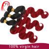 Extensiones brasileñas del pelo humano de Remy Ombre de la Virgen de calidad superior