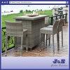 Barstoolのテラスの平らな柳細工のみょうばん棒チェアーテーブルの屋外の家具(J374棒)