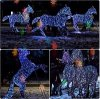 LED Lightup Wild Horses Christmas Light per Outdoor Decoration