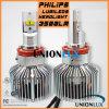 O farol o mais novo do diodo emissor de luz H11 de 50W H11 12V 24V 4500lm a Philips