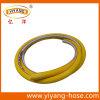 Tuyaux d'air de haute résistance de PVC de jaune