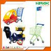 Chariot à achats d'enfant de supermarché d'hypermarché avec le véhicule de jouet