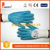 Ddsafety 2017 en nylon blanc gant de travail enrobés de nitrile bleu