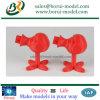 Пластичное печатание 3D в по-разному цветах
