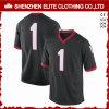 De aangepaste Droge Geschikte Amerikaanse Zwarte van Jersey van de Uniformen van de Voetbal (eltfji-70)
