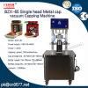 Einzelnes Hauptmetallschutzkappen-Vakuummit einer kappe bedeckende Maschine für Milch (BZX-65)